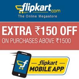 Flipkart Extra Rs 150 Off
