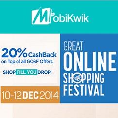 MobiKwik GOSF 2014 Offers