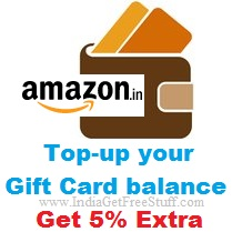 Amazon Gift Cards Top up Offer
