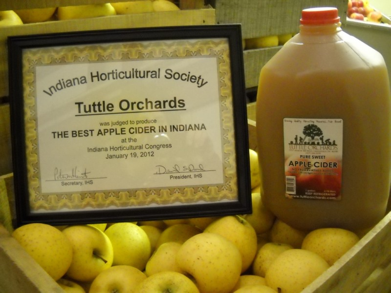 Tuttle Orchards Cider Award