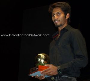 Promising Young and Skillful Alwyn George gets the best young footballer award