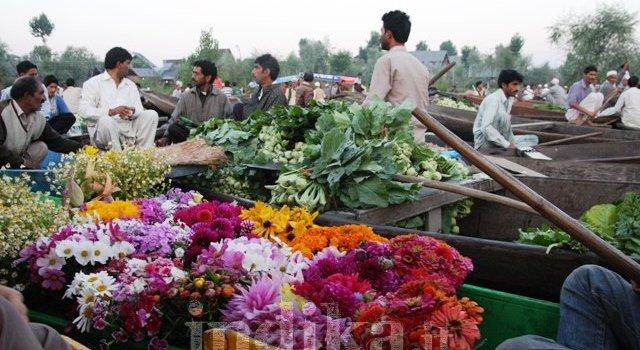 Reportage fotografico dal Kashmir. Il mercato galleggiante di Srinagar
