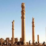 Pilastri di Persepoli. Persepoli, Iran.
