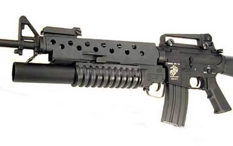 M-2203 dipasang pada M-16.