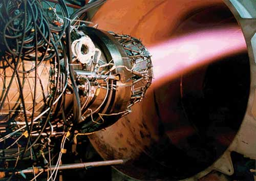 Mesin EJ200 dengan thrust vectoring.