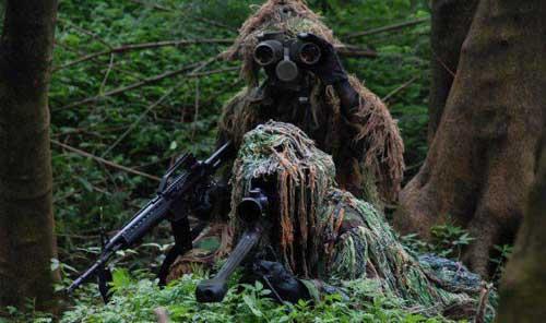 Sniper dan Spotter dari Taifib Marinir TNI AL