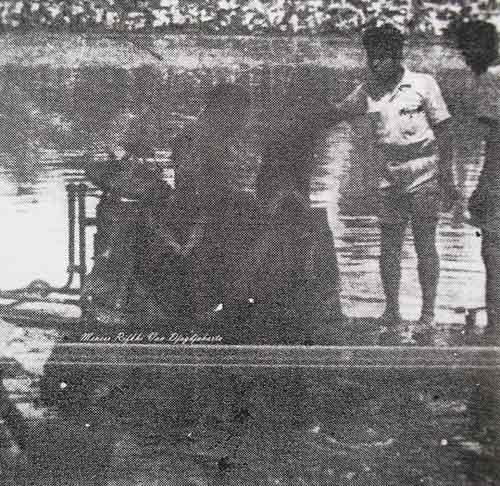 Uji coba di Kalibayem, Yogyakarta tahun 1947.