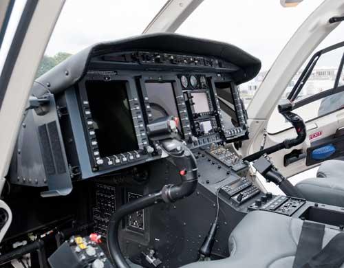 Bell 429 dilengkapi fasilitas glass cockpit.