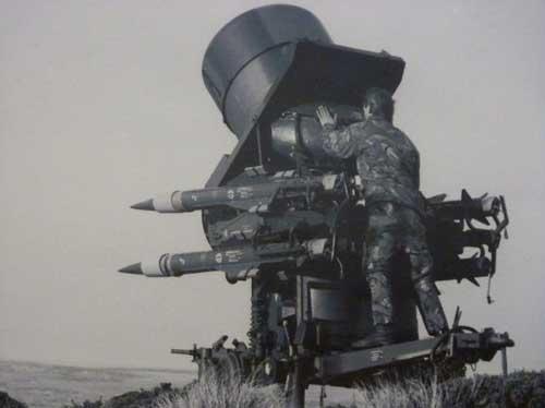 Surveillance radar terdapat di dalam kubah unit peluncur.