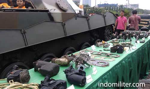 AMX-13 VCI hasil retrofit Bengkel Pusat Peralatan Angkatan Darat.