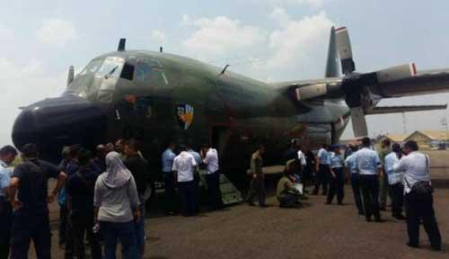 usai-menjalani-perbaikan-pesawat-hercules-c-130-b-lakukan-uji-terbang