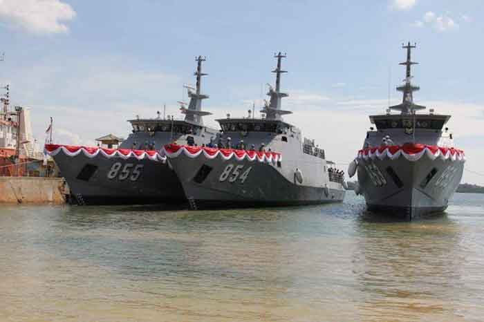 PT Palindo Marine Luncurkan Tiga Kapal Patroli PC-40 Untuk Satrol Koarmatim