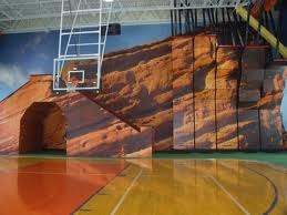 Gym wall wrap, graphics wrap, full wall wrap, gymnasium wall graphics, gymnasium wall idea