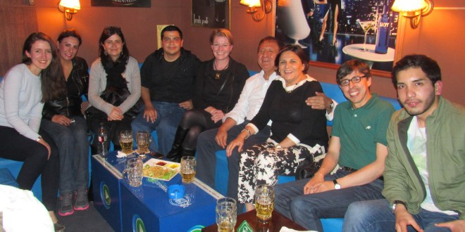 Farewell party at Shamrock Irish Pub in La Paz.