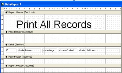 Print Records from Database in Visual Basic | iNetTutor.com