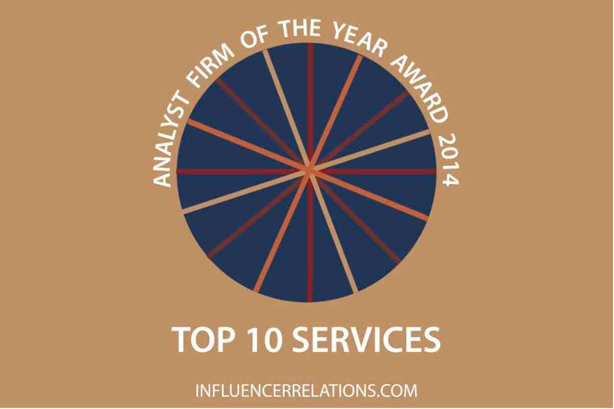 Announcing the ten outstandingly-valuable services analysts