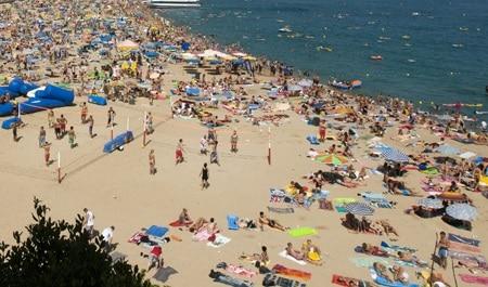 Turistas rusos en Lloret de Mar