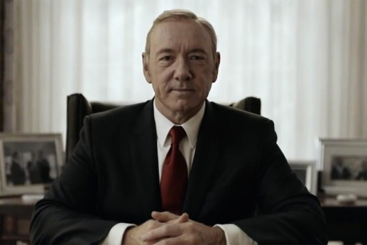 "Kevin Spacey, en ""House of Cards"""