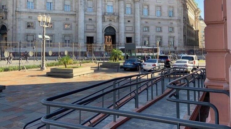 El incidente tuvo lugar en el ingreso de la intersección de Balcarce e Irigoyen