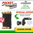 Pocket Hose Top Brass 3 Times Stronger Lifetime Guarantee