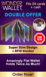 Wonder Wallet Amazingly Flat RFID Wallet