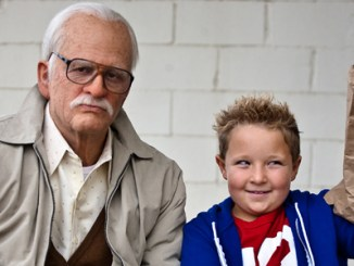 © MMXIII Paramount Pictures Corporation   Left to right: Johnny Knoxville is Irving Zisman and Jackson Nicoll is Billy in JACKASS PRESENTS: BAD GRANDPA, from Paramount Pictures and MTV Films. BG-00814