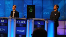 IBM's Watson computer system, powered by IBM POWER7, competes against Jeopardy!'s two most successful and celebrated contestants -- Ken Jennings and Brad Rutter -- in a practice match held during a press conference at IBM's Watson Research Center in Yorktown Heights, NY on January 13, 2011. Watson will compete against Jennings and Rutter in the first-ever man vs. machine Jeopardy! competition, which will air on February 14, 15 and 16, 2011, with two matches being played over three consecutive days.