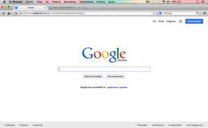 Visita a sitio https://www.google.com/ desde una conexión a la red Tor desde México.