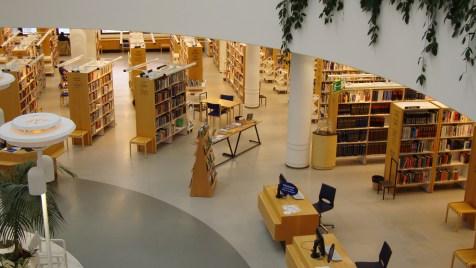 Panorámica sala de lectura central