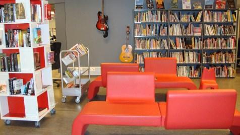 Sala de lectura biblioteca música