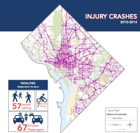 Washington DC Vision Zero: INJURY CRASHES 2010-2014