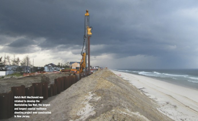 Hatch Mott MacDonald was retained to develop the Mantoloking Sea Wall, the largest and longest coastal resilience sheeting project ever constructed in New Jersey.