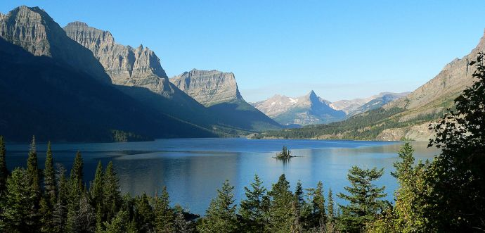 Glacier National Park - Saint Mary Lake and Wild Goose Island - by Ken Thomas