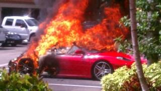 ferrari f430 fiamme