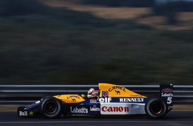 MANSELL-WILLIAMS-RENAULT-F1-1992