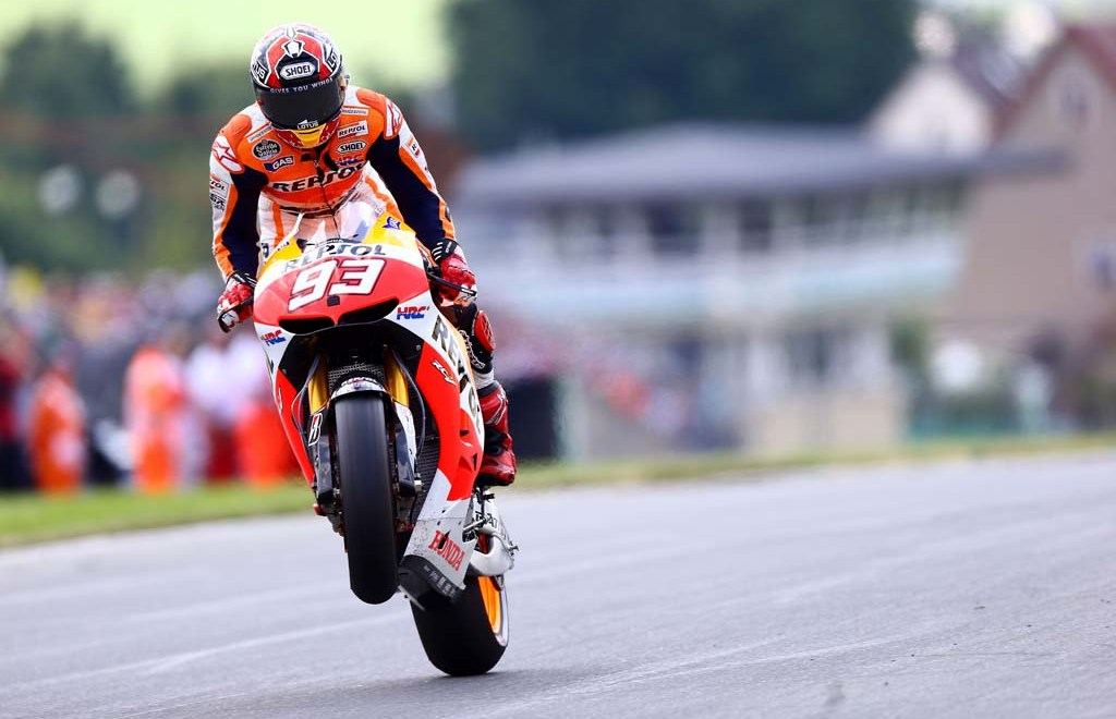 GEPA-14071398014 - OBERLUNGWITZ,GERMANY,14.JUL.13 - MOTORSPORT - MotoGP, Grand Prix of Germany, Sachsenring. Image shows Marc Marquez (ESP/ Suter). Photo: GEPA pictures/ Gold and Goose/ David Wood - For editorial use only. Image is free of charge.
