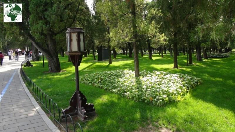 Den smukke park ved Temple of Heaven...