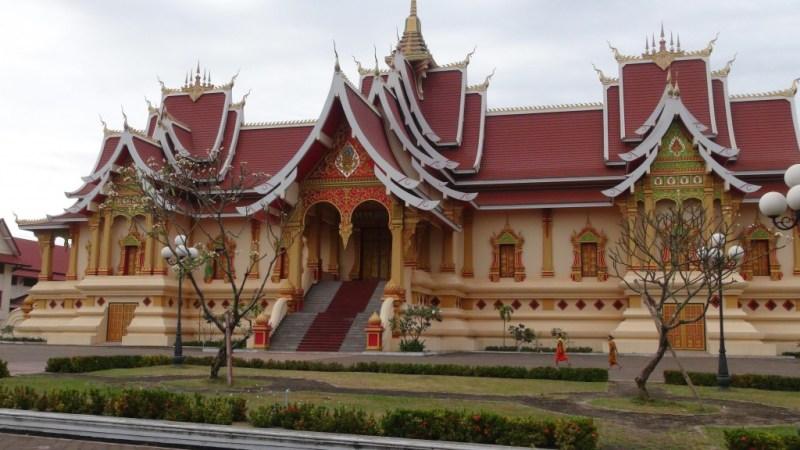 En del af Pha Thang Luang templet