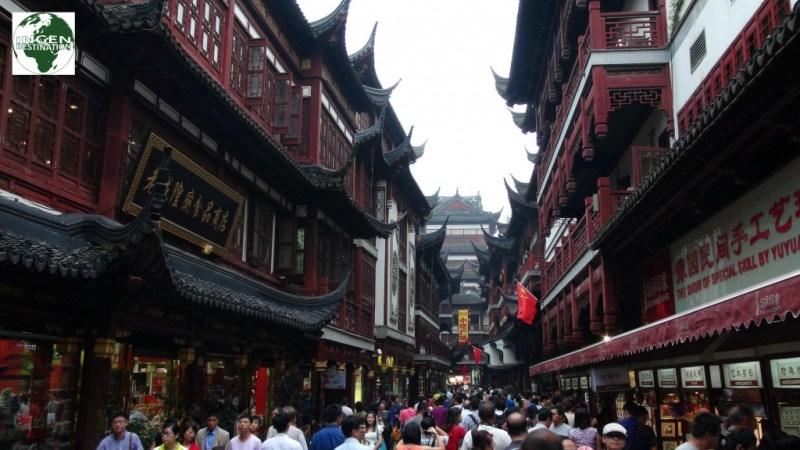 Flotte gamle kinesiske bygninger.