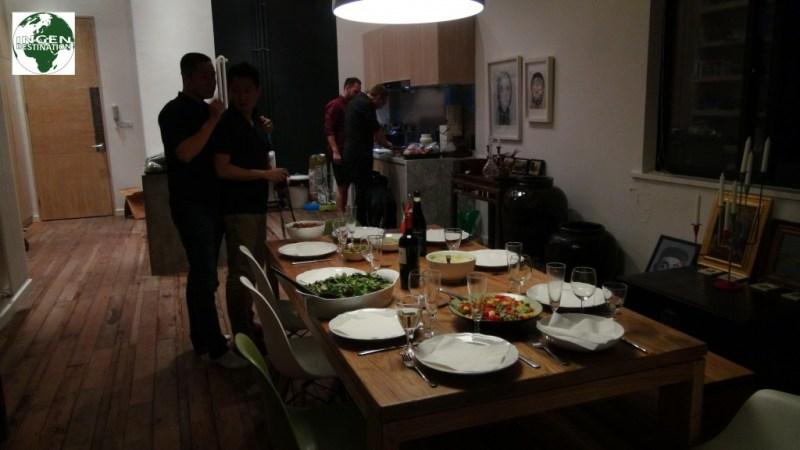 Aftensmad hos Jacob og Bo