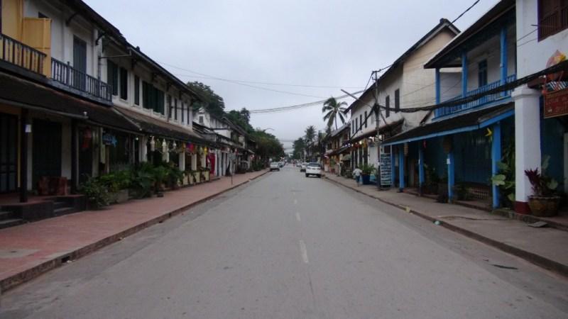 Hovedgaden i Luang Prabang