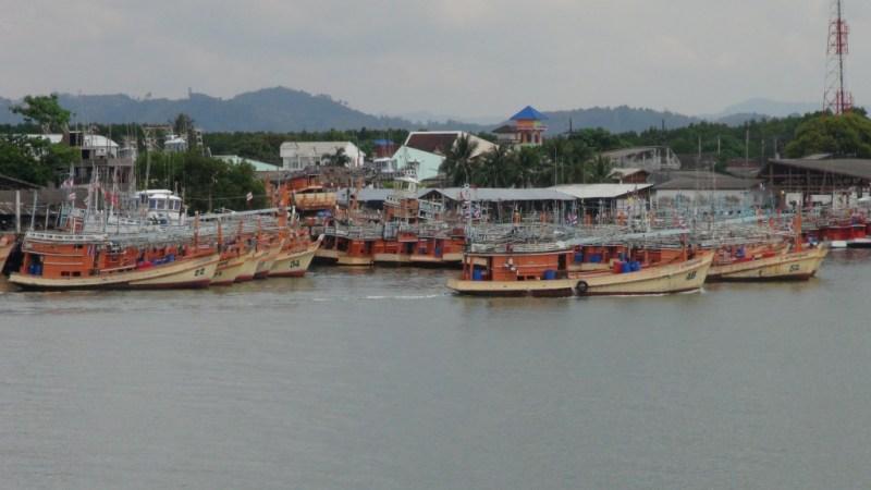 Havnen i Khao lak, thailand