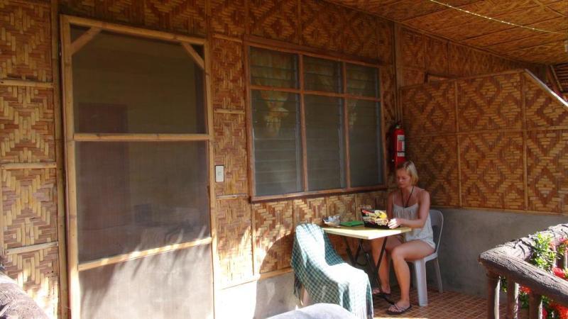 filippinerne, strand, palmer, backpacking, guesthouse