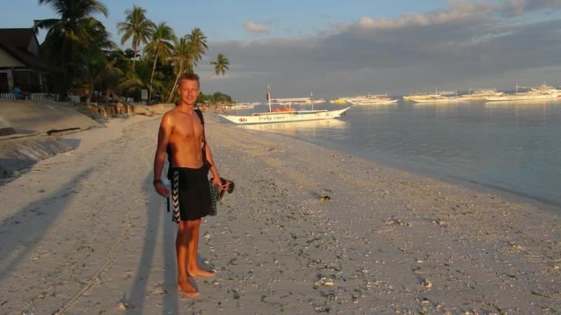 filippinerne, strand, palmer, backpacking, guesthouse, panglao, palmer, strand
