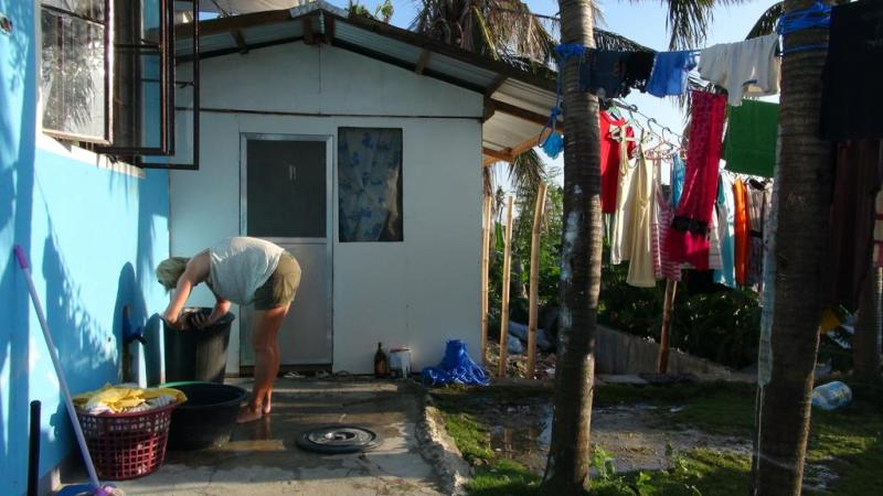 filippinerne, malapasqua, båd, strand, beach, palmer, guesthouse