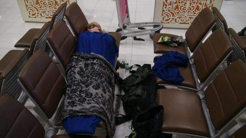 sover i bangkoks lufthavn