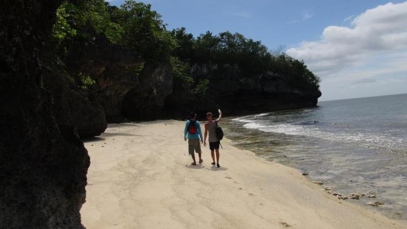 filippinerne, solskin, backpacking, strand, higatangan island, tyfon, strand