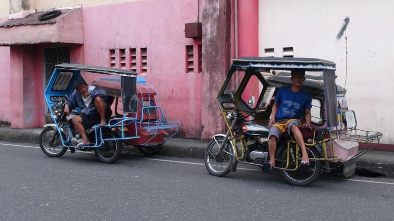 filippinerne, strand, palmer, backpacking, transport