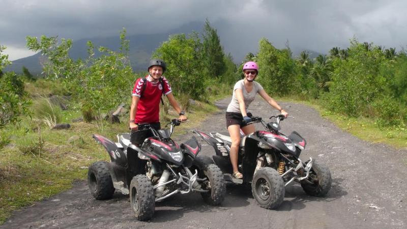 filippinerne, strand, palmer, backpacking, mount mayon, atv tour