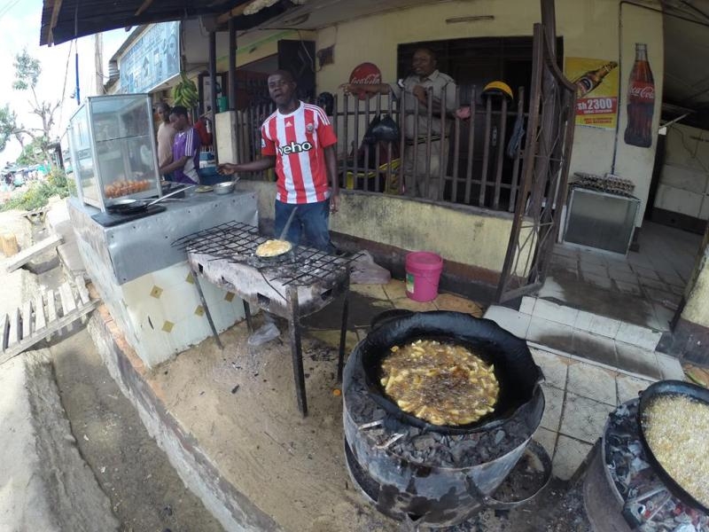 Gade køkken i Mtwara, Tanzania